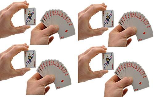 8 Stück Mini Kartenspiel 54 Blatt Spielkarten Reisespiel by schenkfix