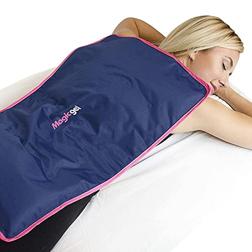 Extra Large Ice Pack for Back and Full Body. Use as Cold Compress for Pain Relief, Ice Blanket for Sleeping or Ice Pad for Physical Therapy. by Magic Gel (Reusable, XL)