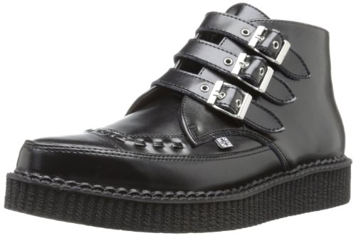 TUK Pointed Creeper, Unisex - Erwachsene Sneaker, Schwarz (Noir (Black Leather/Black Interlace)), 42 EU