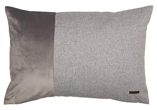 ESPRIT Deko Kissen Harp • 2er Set Kissenbezug 38x58 grau • Deko Wohnzimmer • ohne Füllung • 100% Polyester