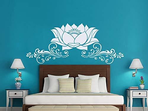 Opprxg Lotus Etiqueta de la Pared Interior Dormitorio Vinilo calcomanía Arte Mural Hermoso Lotus PV 42x98cm