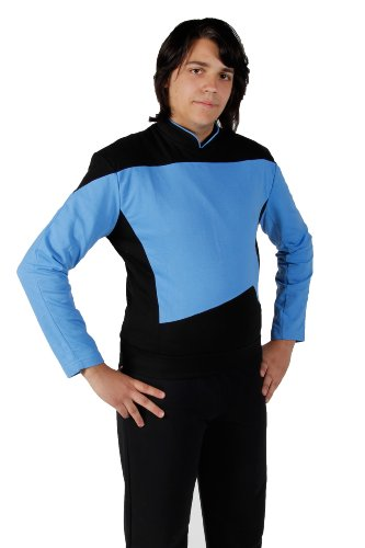 *Star Trek – The Next Generation – Uniform Shirt – Blau*