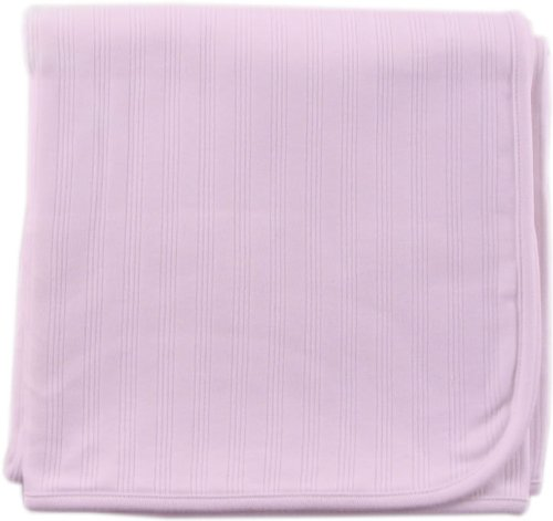 Touched by Nature Unisex Baby Organic Cotton Swaddle, Receiving and Multi-purpose Blanket, Pink, One Size