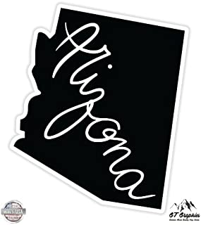 GT Graphics Arizona State Shape - Vinyl Sticker Waterproof Decal