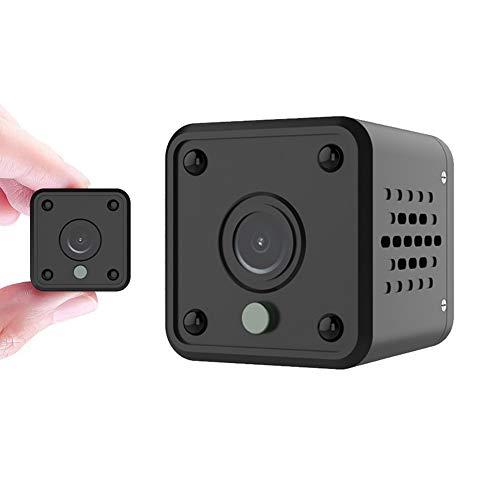 Minicámara de vigilancia WiFi 1080P HD cámara inalámbrica portátil Nanny CAM Mascotas Oficina Garaje hogar IR visión Nocturna 140° Gran Angular detección de Movimiento para iOS/Android