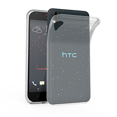 Cadorabo Hülle für HTC Desire 10 Lifestyle/Desire 825 - Hülle in VOLL TRANSPARENT – Handyhülle aus TPU Silikon im Ultra Slim 'AIR' Design - Silikonhülle Schutzhülle Soft Back Cover Case Bumper