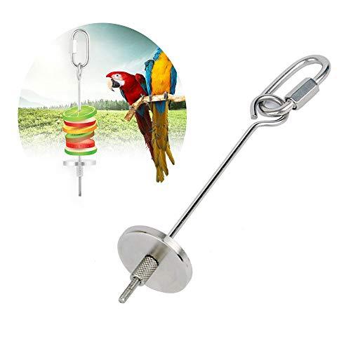 Wenxiaw Papageien Futtersuche Spielzeug Vogel Obst Halter Edelstahl Tiere Behandlung von Werkzeug für Wellensittich Käfige, Vögel Papageien, Wellensittiche, Sittiche, Nymphensittiche (12cm)