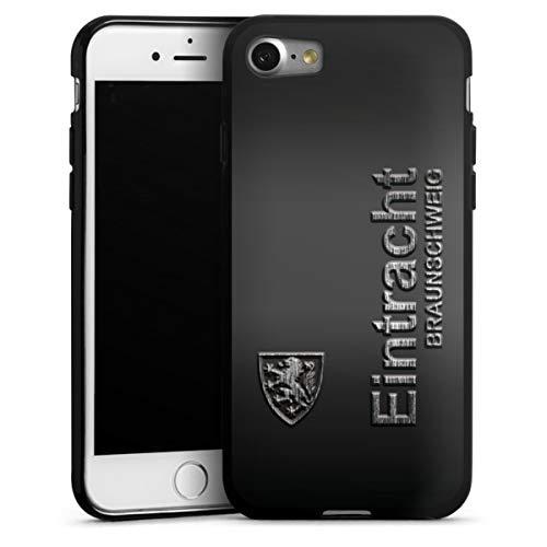 DeinDesign Silikon Hülle kompatibel mit Apple iPhone 7 Case schwarz Handyhülle Offizielles Lizenzprodukt Eintracht Braunschweig Fußball