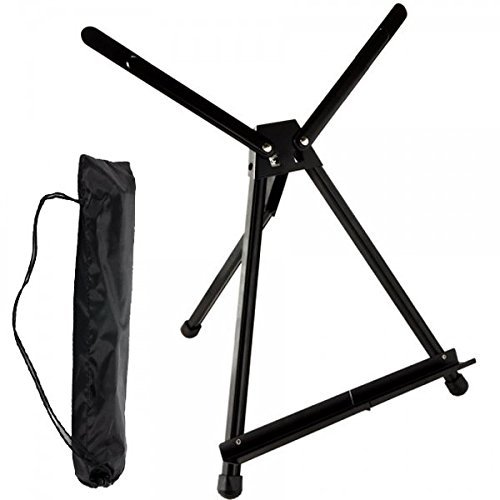 SoHo Urban Artist Table Top Easel - Light Weight and Travel Friendly with Carry Case - Black Anodized Aluminum