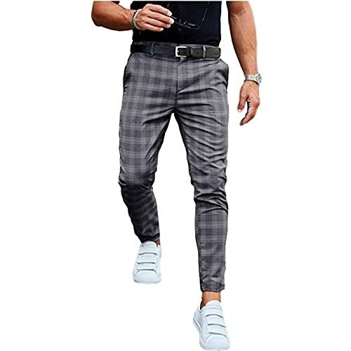 Yokbeer Pantalones Chinos para Hombre Pantalones de Tela Pantalones Chinos Pantalones de Traje Traje Pantalones para Hombre Pantalones Pitillo Pantalones Elegante Negocios Slim Fit Regular Clásico Clá