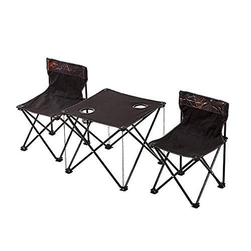 Empty Picknick Doppelklapptisch Stuhl, Klapp bewegliche Stativ Sitz-Hocker, leichte Stativ Camping-Stuhl, ideal for Outdoor-Reisen GAGEAA