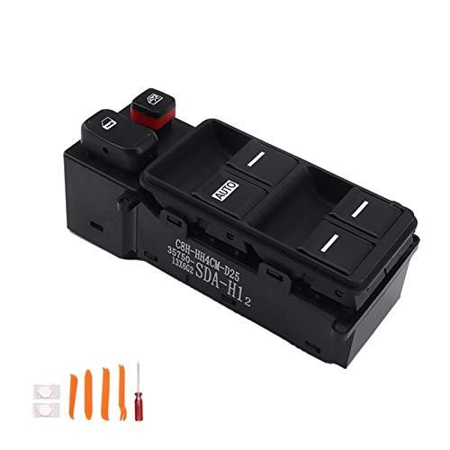 KUANGQIANWEI Botonera elevalunas Interruptor de Energía Eléctrica Ventana Principal del Controlador del Lado Izquierdo en Forma for el Honda Accord 2003-2007 35750-SDA-H12 (Color : Black)