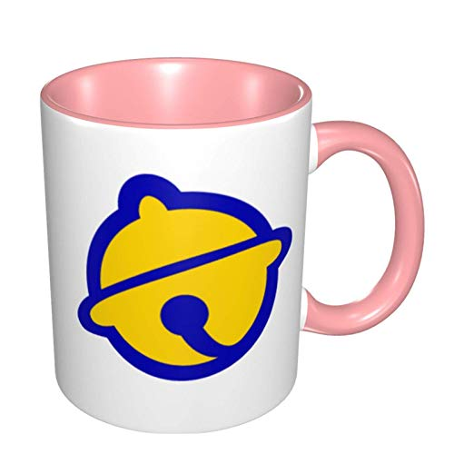 niushan Doraemon Logo - Taza de café grande de cerámica para oficina, hogar, apto para lavavajillas y microondas, 1 pieza (blanco)