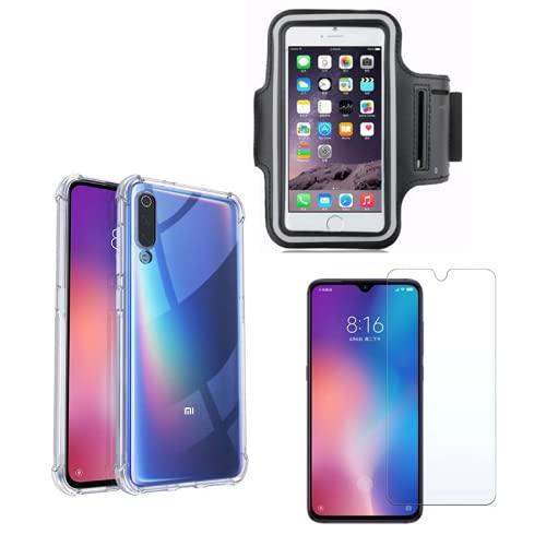 Capinha Capa Antiqueda E Capa De Braço Porta Celular + Película Vidro Compatível Xiaomi Mi9 Lite