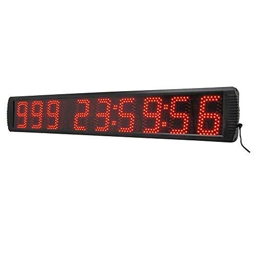 ZhenHe LED Digital Relojes de Alarma de 5 Pulgadas LED Reloj Digital de Cuenta atrás Minutos temporización Segundos Temporizador con Control Remoto (Color: Negro, Tamaño: 5 Pulgadas) Adecuado para el