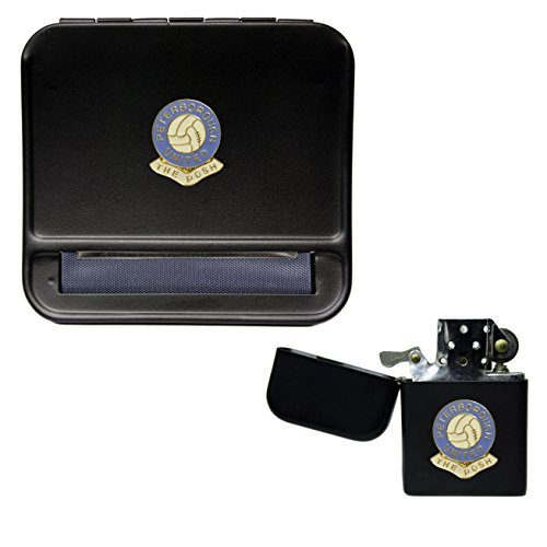 Peterborough United Football Club Cigarette Rolling Machine and storproof Petrol Lighter