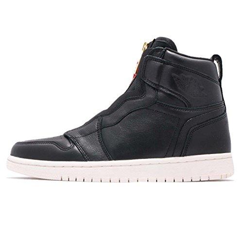 Nike Wmns Air Jordan 1 High Zip, Zapatillas de Deporte Mujer, Multicolor (Black/Sail/University Red 016), 43 EU