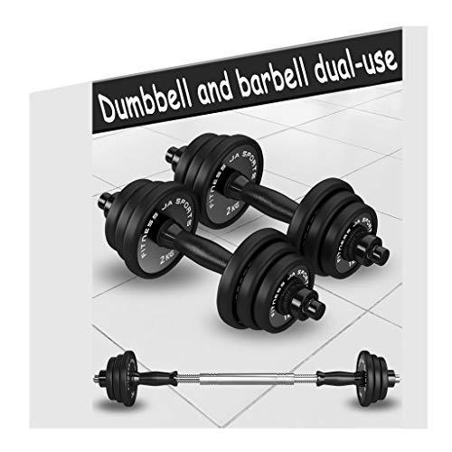 Set di manubri da 20 kg, set di 2 manubri per fitness con asta di collegamento in acciaio massiccio, set di pesi regolabili da 20 a 29,9 kg, montaggio e smontaggio (dimensioni: 10 kg)