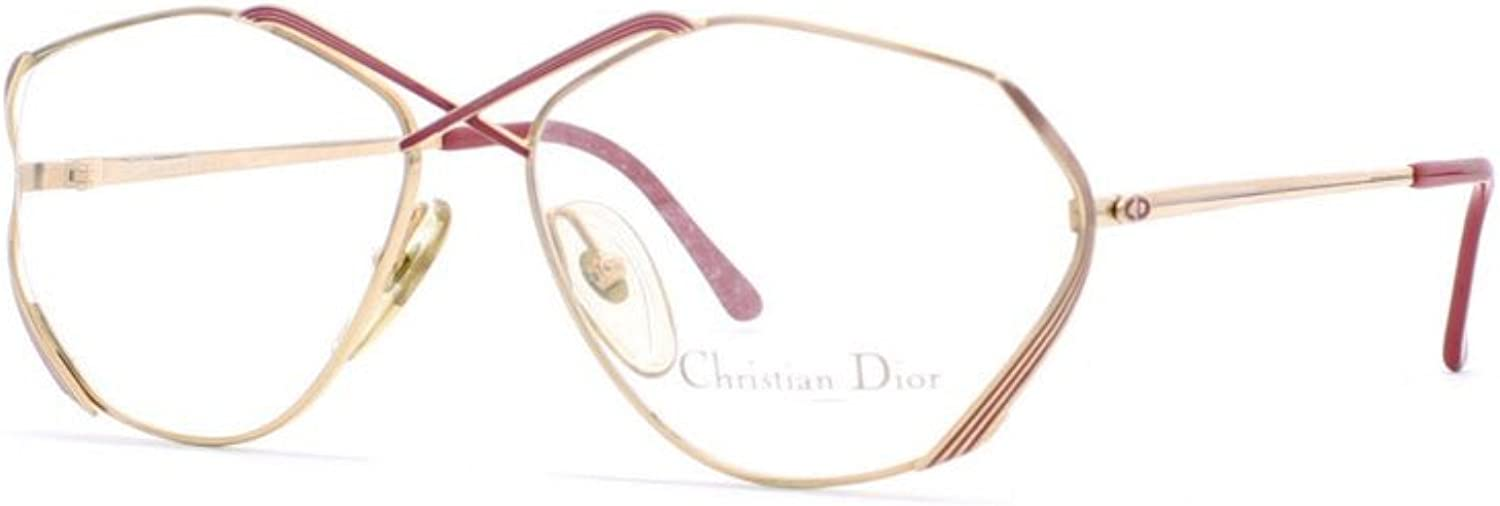 Christian Dior 2684 43 gold and Red Authentic Women Vintage Eyeglasses Frame