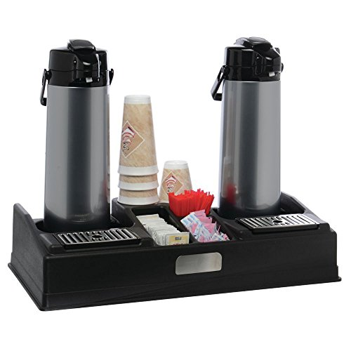 HUBERT Airpot Station For Two Airpot Coffee Dispensers Black