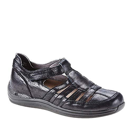 Drew Women's Ginger Fisherman Shoe,Dusty Black Leather,US 6.5 M