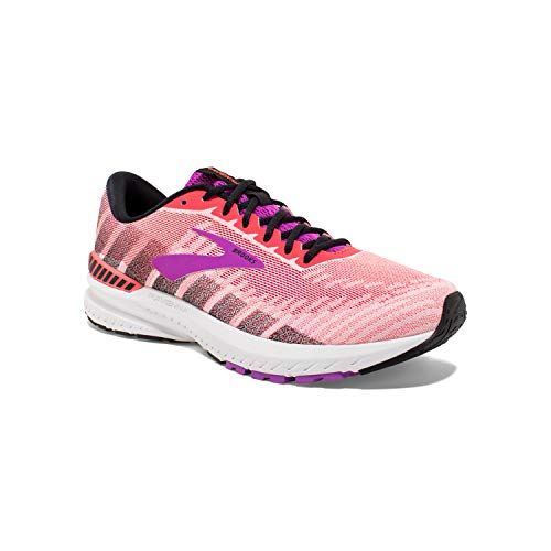 Brooks Womens Ravenna 10 Running Shoe - Coral/Purple/Black - B - 10.5