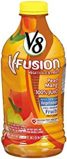 V8 V-Fusion Peach Mango 100% Juice, 46-Fl Oz Bottles (Pack of 8)