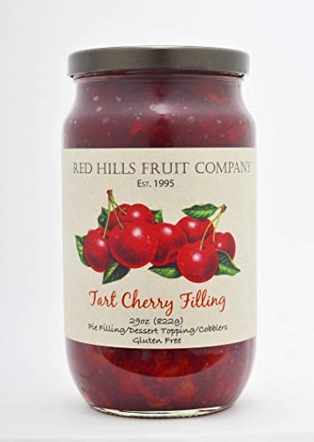 Red Hills Fruit Company Pie Filling, Tart Cherry, 29 Ounce (Pack of 4)