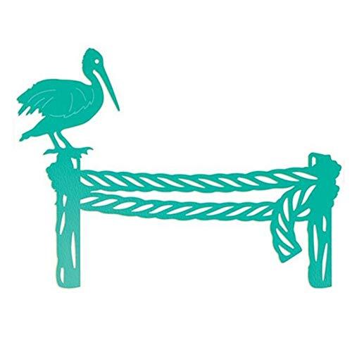 Stanssjabloon, knutselen, paal van hout, vogelframe, van staal, stanssjablonen, voor knutselen, scrapbooking, handwerk, decoratief papier, kaarten, reliëf
