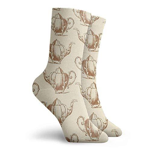 NGMADOIAN sokken vintage theepot patroon I schilderij Svetlana Novikova Athletic Long Crew sokken voor mannen vrouwen 11,8 inch (30 cm)