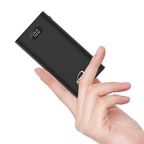 Powerbank 26800mAh Handy Externer Akku Klein LCD Tragbares Ladegerät Mini Hohe Kapazität Akkupack Dual USB Ports mit Type C Eingang Externer Batterie Pack für iPhone iPad Samsung Nintendo Switch
