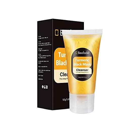 Removedor de espinillas cúrcuma peel off crema facial encogimiento de poros removedor de espinillas limpieza profunda de la piel purificante cuidado del acné para la nariz/mejillas/barbilla