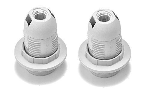 2 Stück LEDmich ® E14 Fassung inkl. je 2x Ring/Schraubring ca. Ø 28mm 57mm Länge Sockel Einbau Lamepensockel (E14)