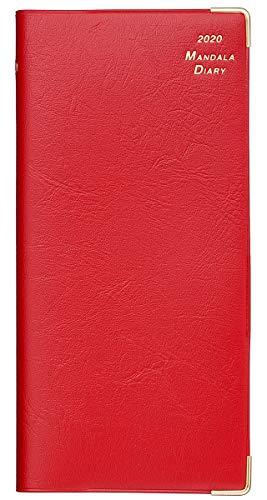 2020年 マンダラ手帳 ポケットサイズ(レッド)