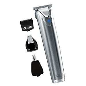 Wahl Stainless Steel Lithium Ion+ Beard and Nose Trimmer for Men