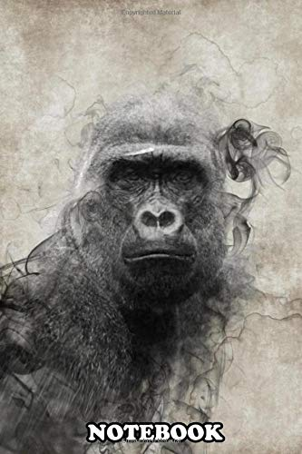 Notebook: Gorilla Smoke Silhouette , Journal for Writing, College Ruled Size 6' x 9', 110 Pages