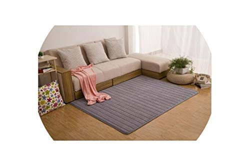 Almighty-Shop Coral Velvet Carpets Anti-Slip Mats Soft Bedroom Carpets Bedside Mats Floor Mat Kids Room Home Rugs,Gray,80X120Cm