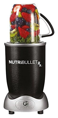 NutriBullet RX, con motore da 1700 Watt e 2,7PS, funzione calore per zuppe e salse, libro di ricette incluso, 10 pezzi