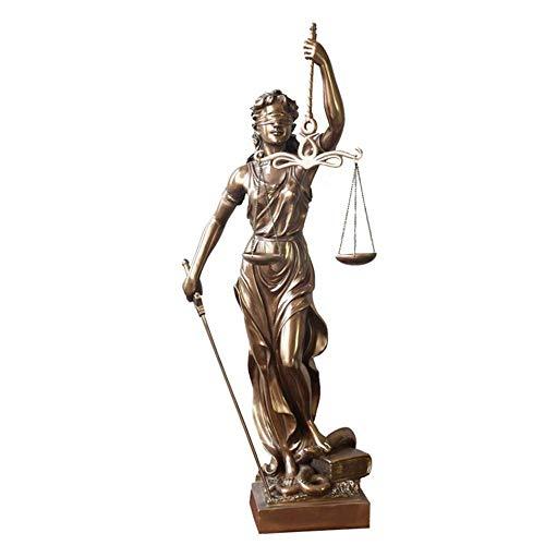 zyl Escultura de colección de Regalo de Abogado judicial de Bronce Fundido en frío con balanza y Espada Bronce 12x47 cm