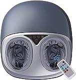 Fußmassagegerät, caresvas Shiatsu Fussmassagegerät Massagegerät für Fuß Elektrisch mit Wärmefunktion, Luftkompression, Rollenund und Kneten, Lindert...