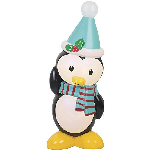 Holiday Home Lighted Penguin Blow Mold Sculpture Outdoor Christmas Decoration Yard Decor