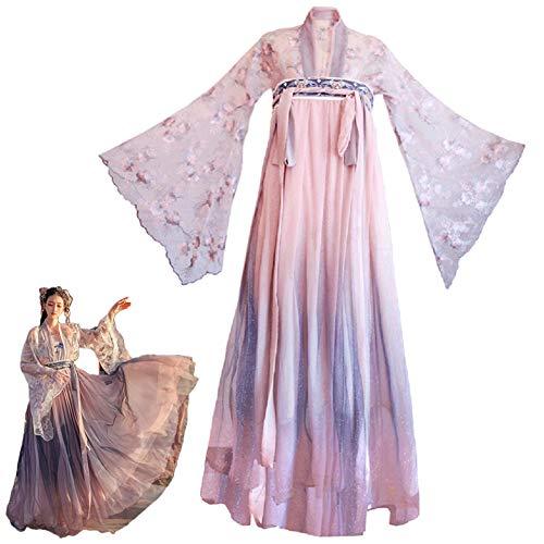 LuYi-Ww Costume da Cosplay, Costume Tradizionale Cinese, Costume Cinese da Donna, Abito Stile Antico Hanfu Tang Vestito Cinese,B,XL