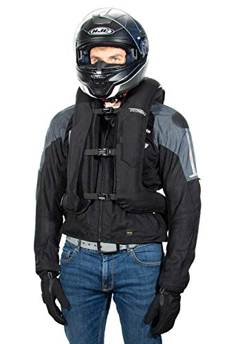 Helite Turtle 2 Black Airbag Vest for Motorcyclists (L)