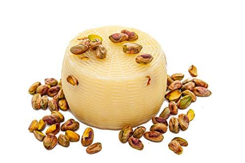 Formaggio di capra caprino al PISTACCHIO italian cheese goat con latte di capra 100% peso 0,400 kg