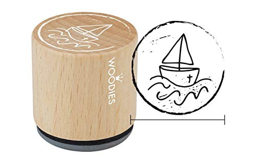 Woodies Stempel Boot, Holz, 3,4x 3,4x 3,5cm