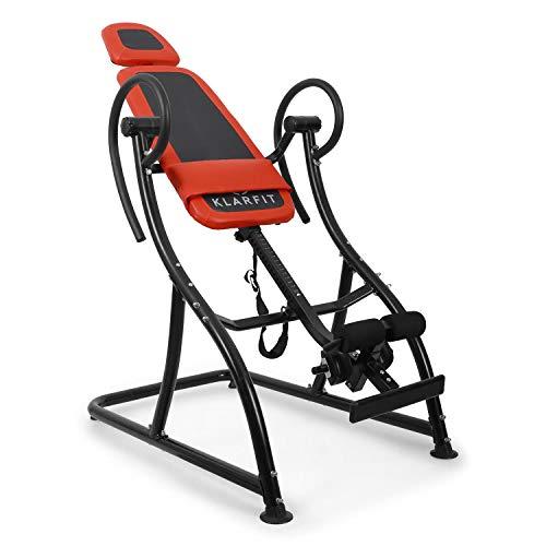 Klarfit Relax Zone Comfort tabla de inversión (150 kg de peso máximo, 20 niveles ajustables, acero y vinilo,...