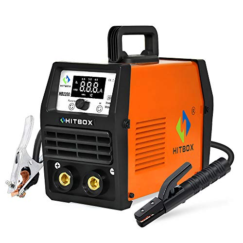 HITBOX ARC Lift Tig Welder 200A 220V Stick MMA IGBT Inverter Welding Machine Can Weld 7018 4.0mm Cellulose Rod (Model: HB2200)