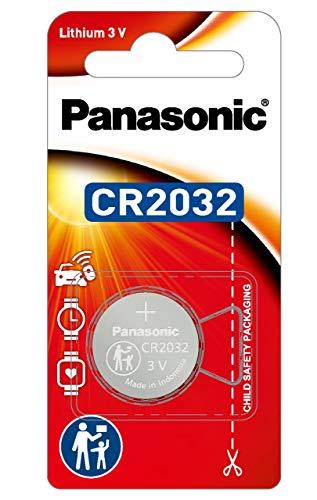 Panasonic 3V Lithium Battery, 1-Pack (CR-2032 )