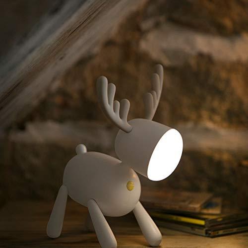 Ange-Y Milu LED Estudiante lámpara de Escritorio lámpara de Escritorio de Lectura del Dormitorio Dormitorio no Necesita ser enchufado. Lámpara de Escritura Creativa Femenina protección fo