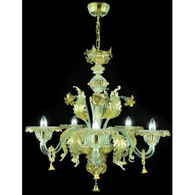 Pegaso Murano cristal lámpara de araña hecha a mano Classic dorado